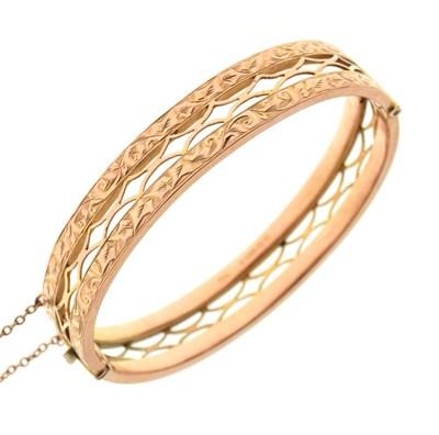 Lot 41 - 9ct gold snap bangle