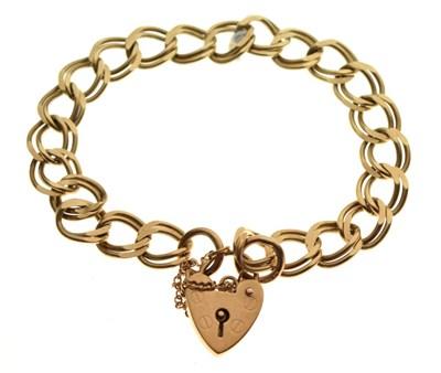 Lot 45 - Double curb-link charm bracelet