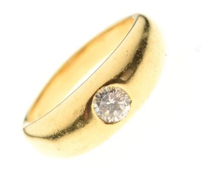 Lot 3 - Gentleman's 18ct solitaire diamond ring