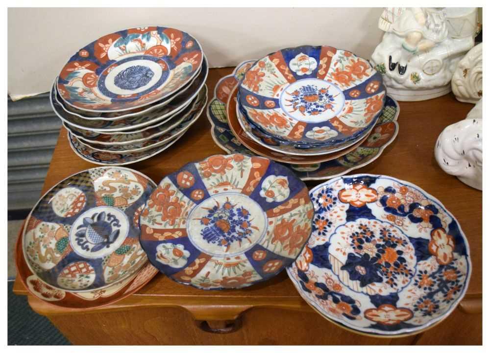 Lot 346 - Quantity of Imari pattern plates etc