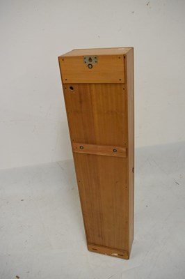Lot 376 - 20th Century Gent of Leicester beech cased  Synchronome-type clock