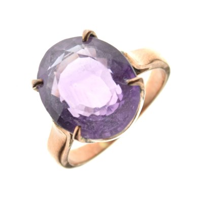 Lot 8 - Amethyst ring