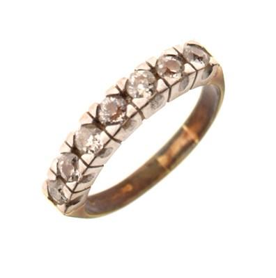 Lot 30 - 18ct gold half-eternity ring, set seven diamonds