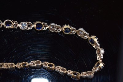 Lot Late Victorian diamond and sapphire necklace
