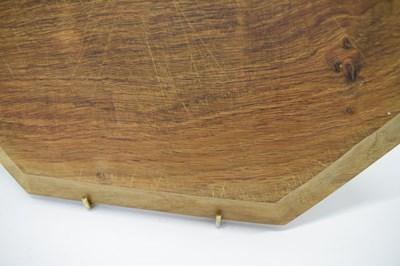 Lot Workshop of Robert 'Mouseman' Thompson, late 20th Century English oak octagonal breadboard