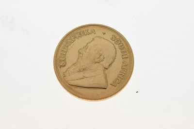 Lot South African 1oz fine gold Krugerrand coin
