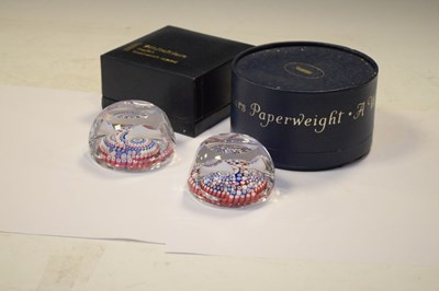 Lot 338 - Two Whitefriars millefiori paperweights
