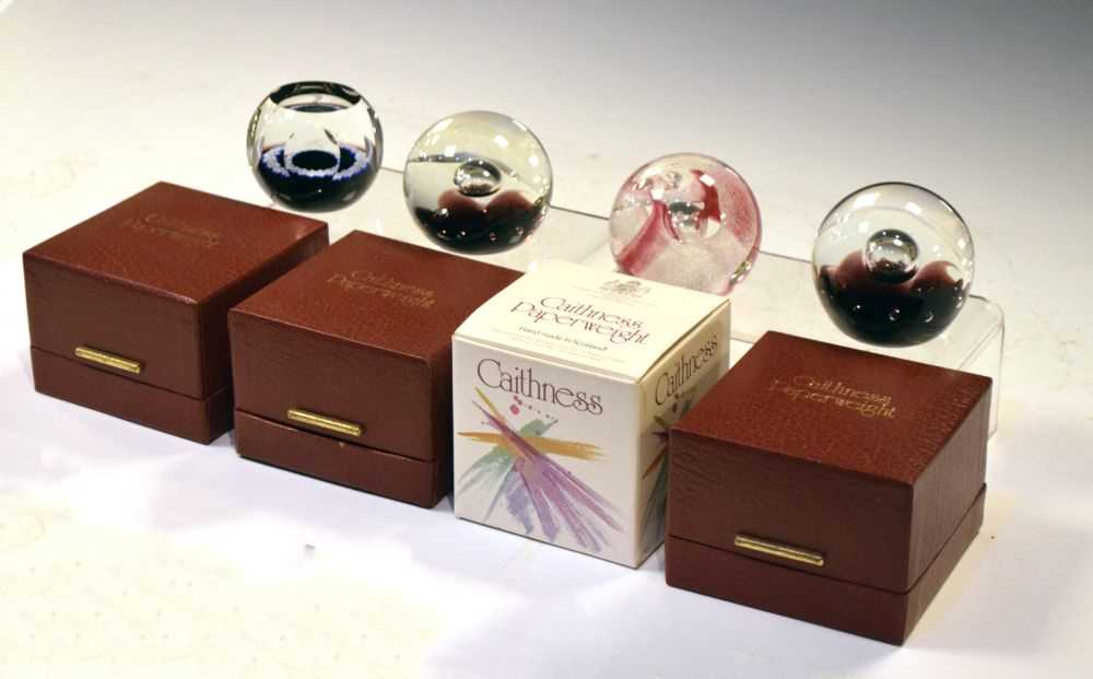 Lot 361 - Four Caithness Paperweights