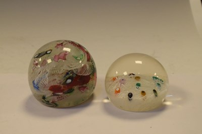 Lot 358 - Two Latticino Glass Paperweights