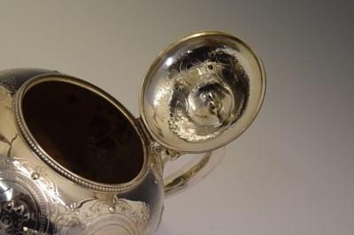 Lot Victorian silver teapot