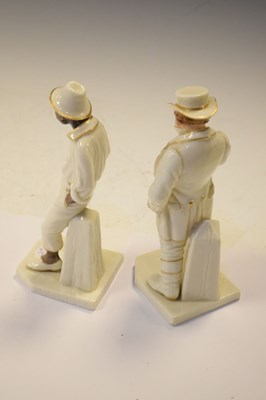 Lot 365 - Royal Worcester - Two porcelain figures from the Around The World series