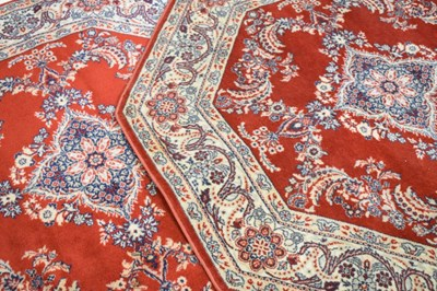 Lot 368 - Pair of machine woven octagonal rugs