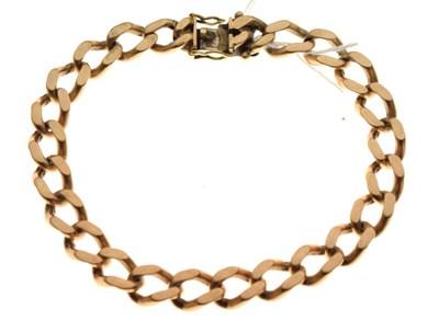 Lot 34 - 9ct gold curb-link bracelet