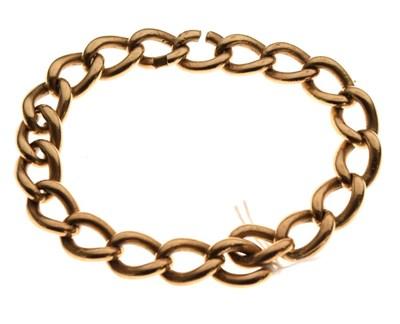 Lot 35 - 9ct gold heavy curb-link bracelet