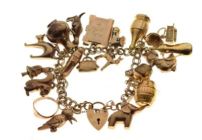 Lot 31 - 9ct gold charm bracelet