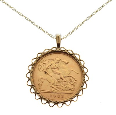 Lot 69 - Half Sovereign pendant