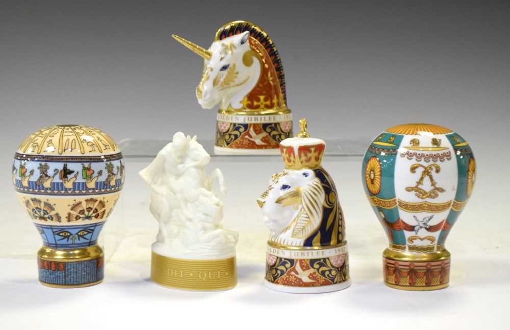 Lot 362 - Royal Worcester - Five limited edition candle snuffers