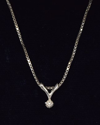 Lot 84 - Single stone diamond pendant