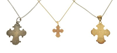 Lot 86 - Three cross pendants