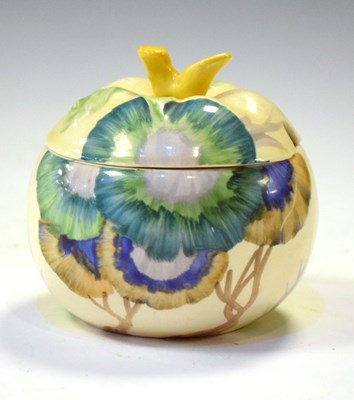 Lot 363 - Clarice Cliff Rhodanthe preserve pot and cover