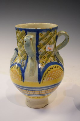 Lot 352 - Pair of Continental faience or maiolica vases