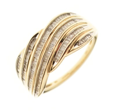 Lot 3 - 9ct gold and diamond ring