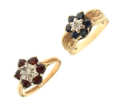 Lot 22 - Two 9ct gold dress rings