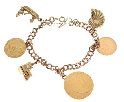 Lot 30 - 9ct gold charm bracelet