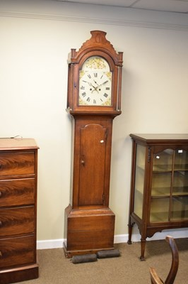 Lot 374 - Early 19th Century oak-cased 8-day painted dial longcase clock