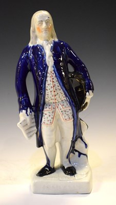Lot 357 - Staffordshire pottery figure of Benjamin Franklin