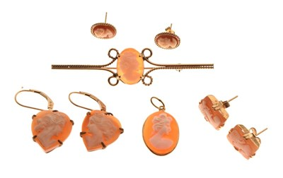 Lot 91 - Collection of cameo jewellery