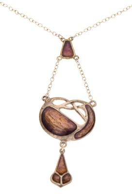 Lot 56 - Art Nouveau-style silver pendant