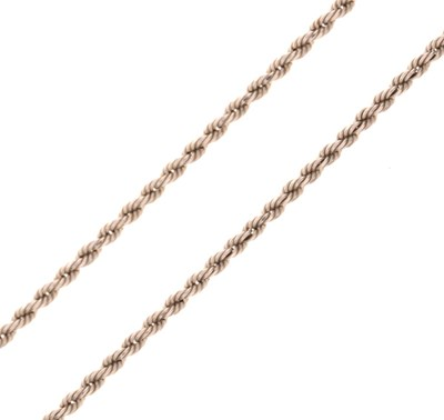 Lot 53 - Platinum rope link chain