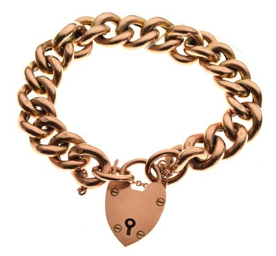 Lot 33 - 9ct gold hollow curb-link bracelet