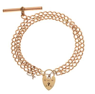 Lot 29 - 9ct gold double curb-link bracelet