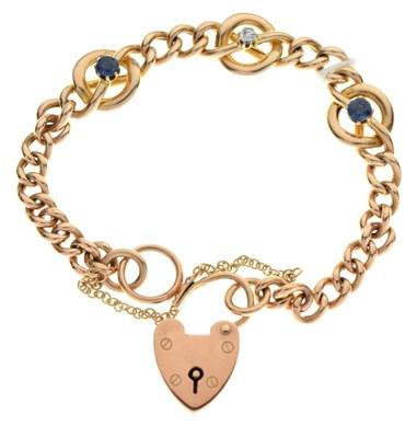 Lot 28 - Gold curb-link bracelet