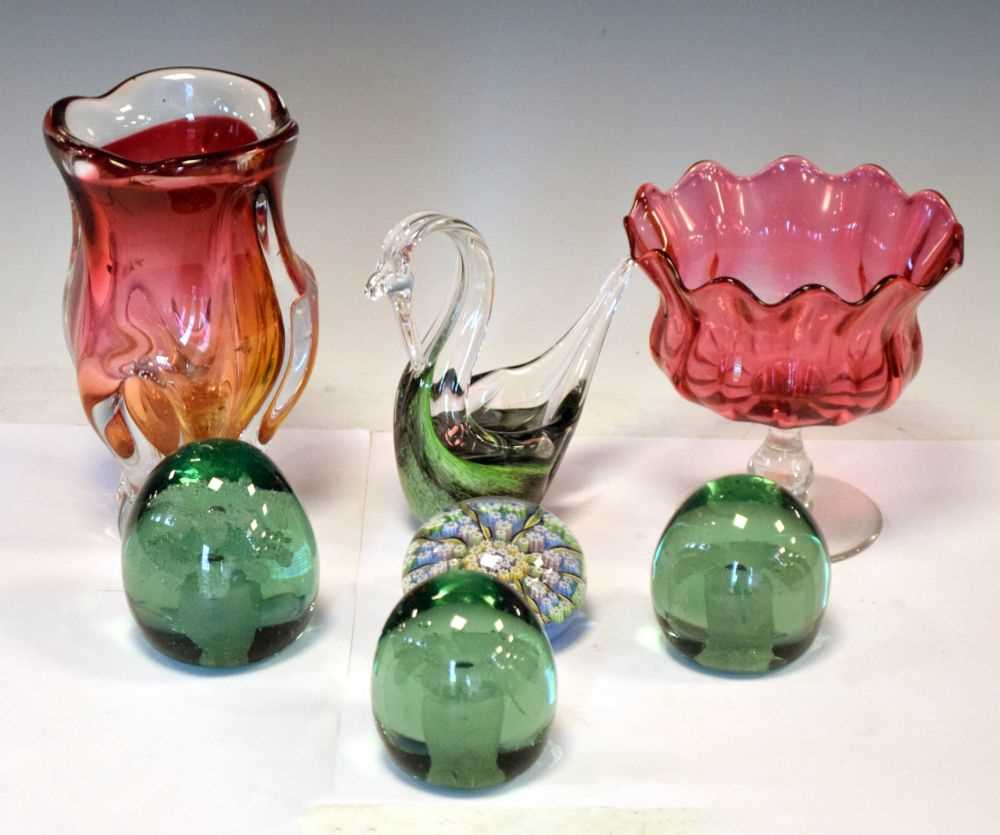 Lot 345 - Quantity of 19th century and later glass