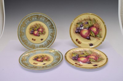 Lot 348 - Two pairs of Aynsley plates