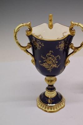Lot 341 - Coalport three-handled urn