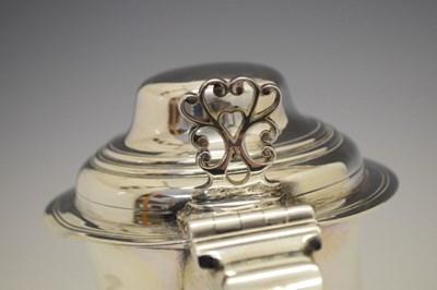 Lot George III silver tankard of baluster form